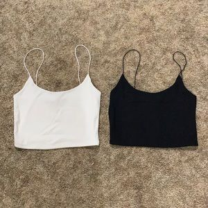Zara cropped ribbed tanks size small nwot